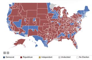 2012 Congressional District vote
