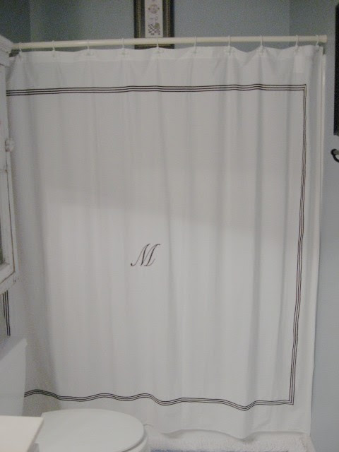 DIY Shower curtain from Target | Southern Hospitality