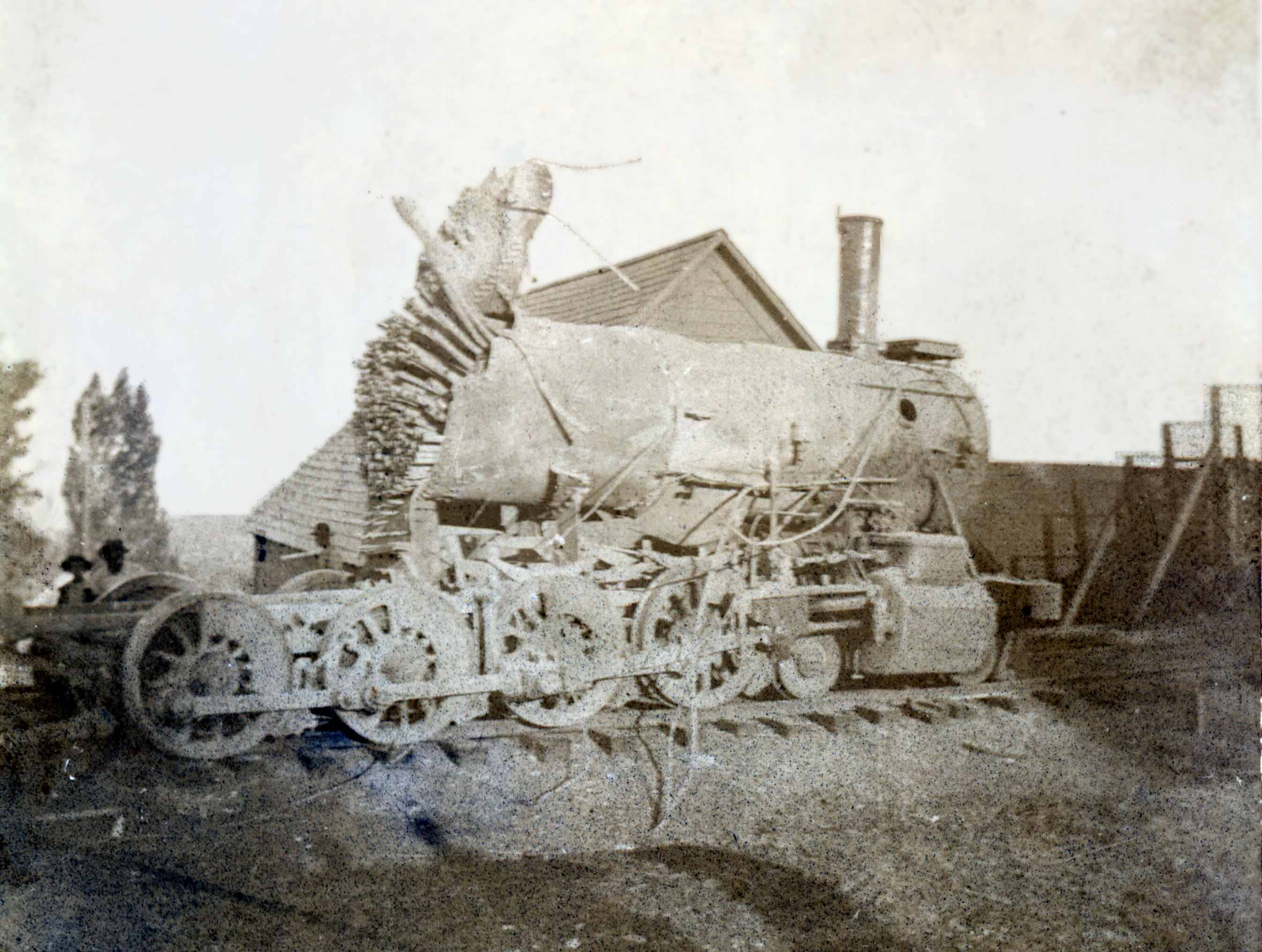 Locomotive that exploded in Dutch Flat, 1898