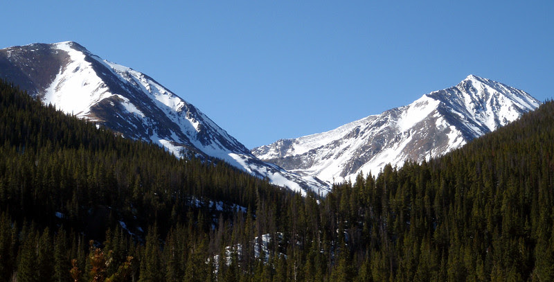 Left: Point 12,267 (note that Points are designated by their elevation)Right: Torreys Peak, 14,267 feet, Colorado's 11th highest