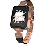Karacus Dione - Smart Watch with Heart Rate Monitor - Rose Gold/Link Bracelet