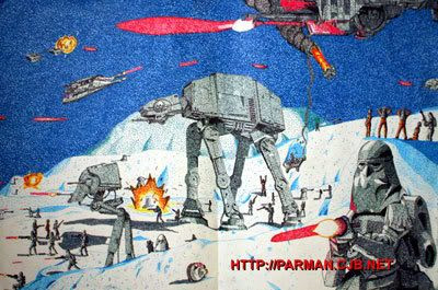 The Battle of Hoth scene from THE EMPIRE STRIKES BACK.