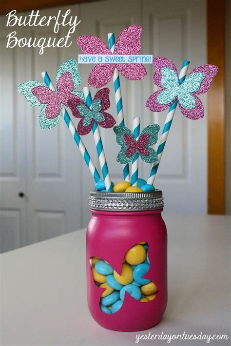 Butterfly Bouquet in a Jar   Yesterday On Tuesday