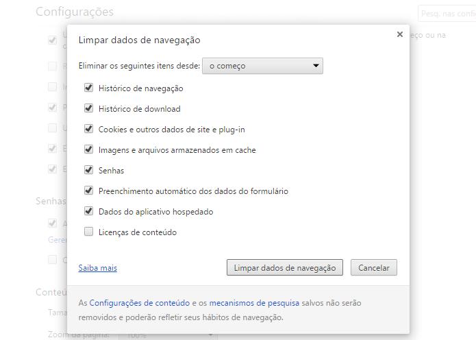 Limpe o histórico do navegador (Foto: Reprodução/Paulo Alves)