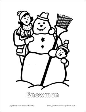 4 best images of snowman preschool printable booklets  preschool snowman coloring pages winter