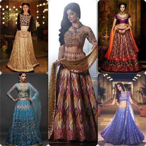 Latest Asian Bridal Crop Top Lehenga Designs   Stylo Planet