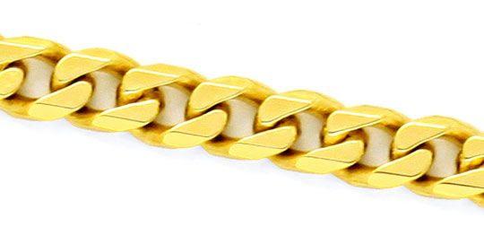 Original-Foto 2, MASSIVE FLACHPANZER GOLD-KETTE GELB-GOLD