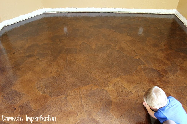 Affordable DIY flooring solution - paper bag floor
