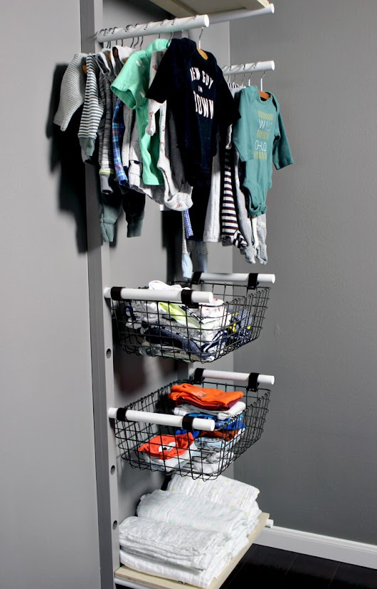 Baby Clothes Rack Storage DIY for Nursery | Gray House Studio