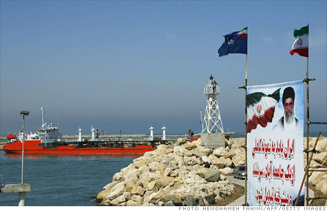 Sanctions ban the import of Iranian crude to Europe and also target Iran's central bank.