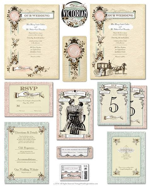 17 Best images about Victorian Wedding Invitations on