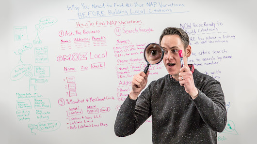 Why You Need to Find All Your NAP Variations Before Building Local Citations - Whiteboard Friday