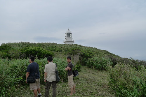 The miurakaigan lighthouse from a distance