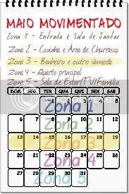 Calendário Maio