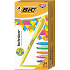 Bic BICBL241AST Brite Liner Highlighter, Chisel Tip, Assorted Colors, 24 per Set