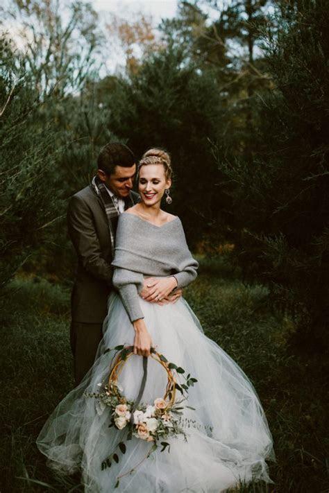 Fashionably Cozy Winter Wedding Inspiration   Junebug Weddings