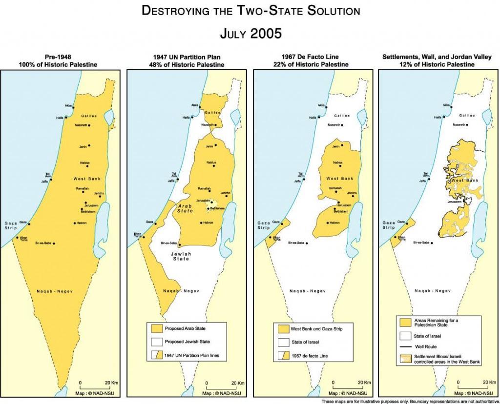 Map of Shrinking Palestine