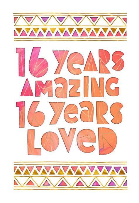 16 Years Amazing 16th Birthday Card   Greeting Cards