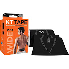 KT Tape Pro Sports Tape, Elastic, Wide, Jet Black - 10 strips