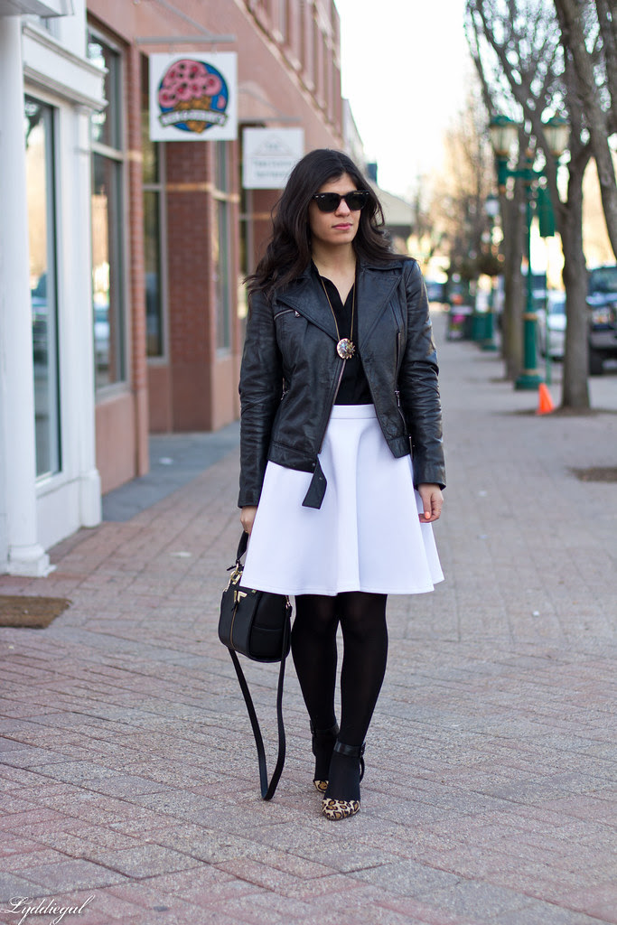 black leather jacket, white skirt, leopard pumps-3.jpg
