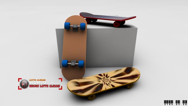 Skateboard4TY1000  3d model  .3ds, .obj, .c4d, .fbx, .sldprt