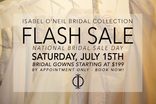 National Bridal Sale Day FLASH SALE!