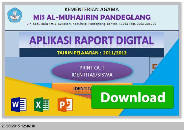 Aplikasi Raport MTs KTSP Excel Gratis Revisi 2015