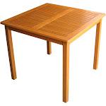 "International Caravan Royal Tahiti Outdoor Wood 32"" Square Table"