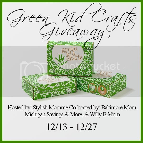 Enter the December Green Kid Crafts Giveaway. Ends 12/27