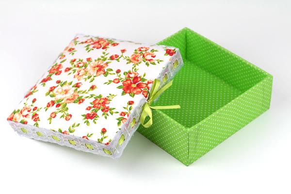 Caixa em MDF revestida em tecido