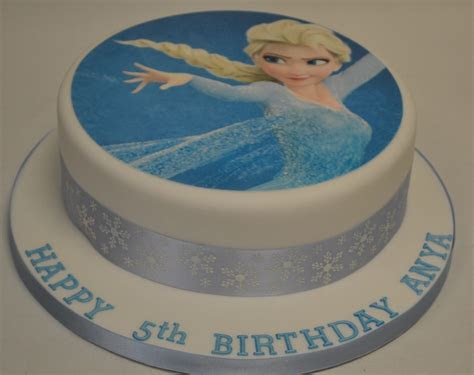 "8"" Round Elsa from Frozen Icing Print Cake   Celebration"