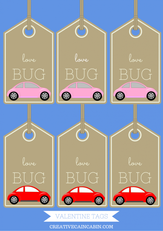 Valentine Love Bug Printable Tags