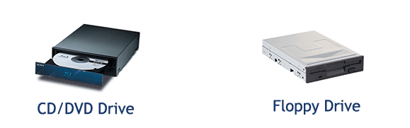 cd drive   floppy drive