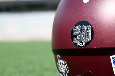 Texas A&M honoring memory of fallen player with this beautiful helmet decal