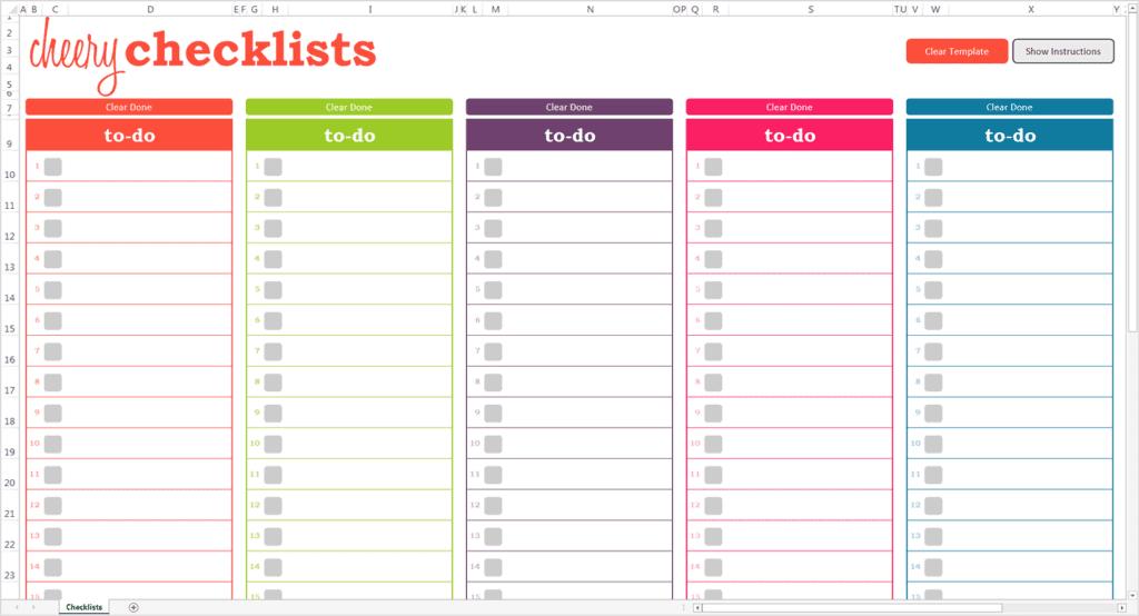 13+ Checklist Templates - Word Excel PDF Formats