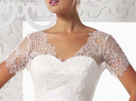 Removeable chantilly lace straps with attached cap sleeve