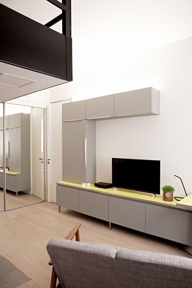 Avant/après : une loge de 26 m2 transformée en studio