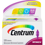 Centrum Women Multivitamin/Multimineral Dietary Supplement, Tablets - 120 count