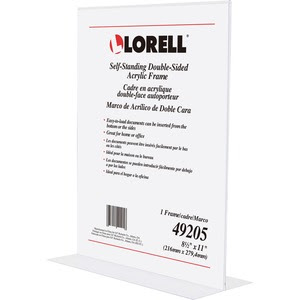 Lorell Double Sided Acrylic Frame Servmart