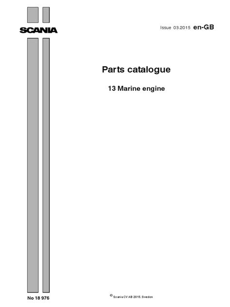 Parts Catalogue DI13 Marine Engines | Turbocharger