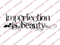Visible Image Imperfection Is Beauty stamp