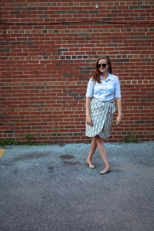 Summer Style in a Wrap Skirt & Statement Earrings