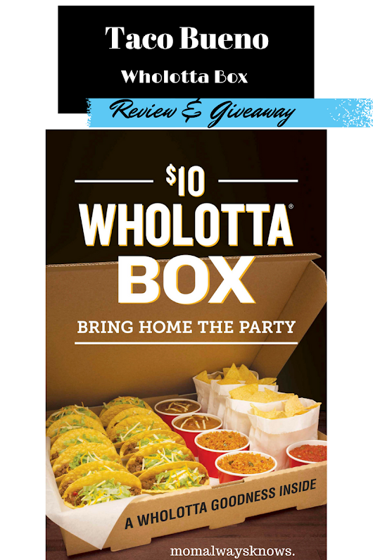 Taco Bueno Wholotta Box Review & Giveaway. Enter to win a free gift card! $10 huge taco & burrito meals.
