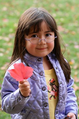 Dova shares a red leaf