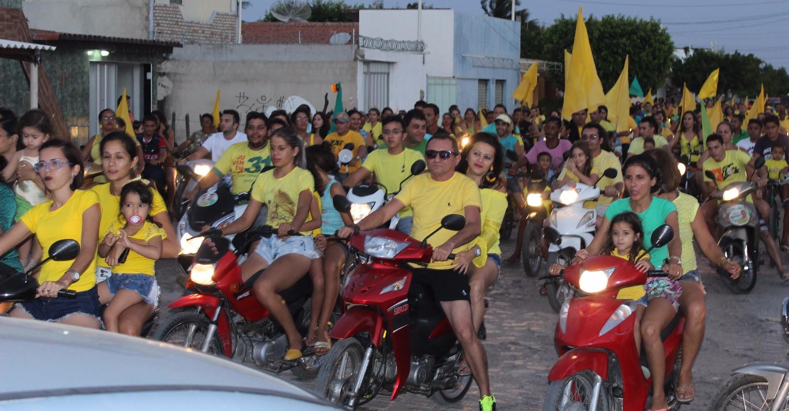 Motorreata e bicicleteada    tomaram conta das ruas da cidade na tarde de ontem