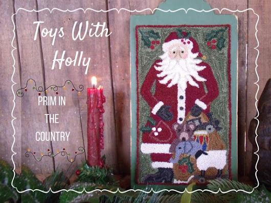 Toys With Holly Punch Needle Pattern by PrimInTheCountry on Etsy