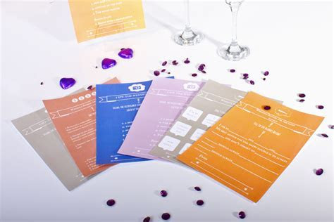 4 Free Printable Wedding Table Games