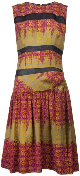Sophie Theallet Print Dress Arabesque - Lyst
