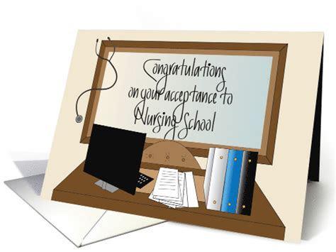 Congratulations on Acceptance to Nursing School card (1233276)