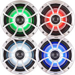"""Wet Sounds Bundle: Two Pairs Of Xs 65i Series Silver Grill 6.5"""" Speakers W/ Rgb Led. 60 Watts Rms Each"""